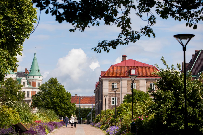 Blomstergatan mellan Kasernplan och Konsthallen
