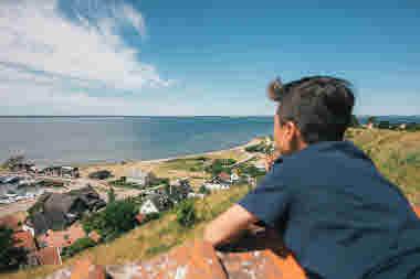Utsikt Kyrkbackens hamn Ven