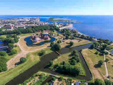 Flygbild Landskrona slott Citadellet
